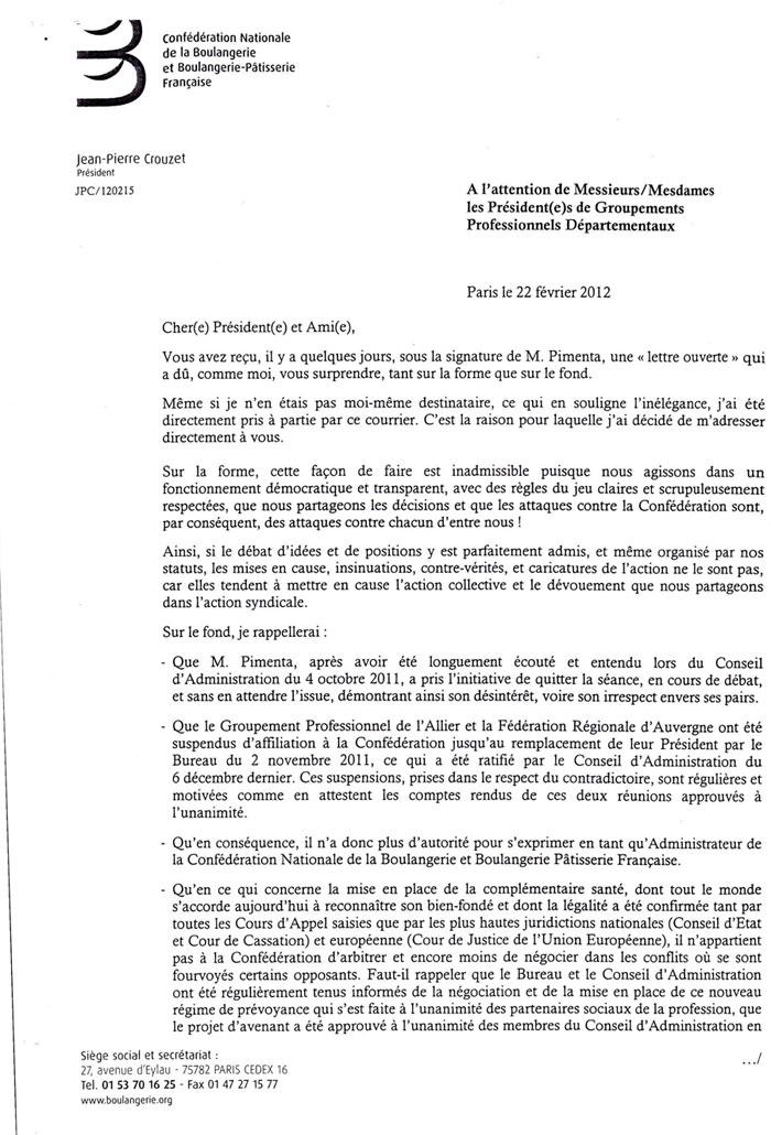 Lettre Ouverte D Amandio Pimenta Les Reponses Boulangerienet